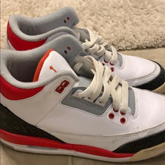 """26513cea82b Air Jordan 3 Retro """"Fire Red"""". Jordan. M 5c4e2a31d6dc5292a3529e94.  M 5c4e2a3f9fe486d675912a9c. M 5c4e2a2bbb7615cd8bc2d7cd.  M 5c4e2a52baebf6b9c17bafae"""